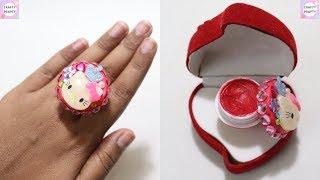 DIY Lip Gloss Ring! / DIY Lip Balm Ring / Lip Gloss Organizer