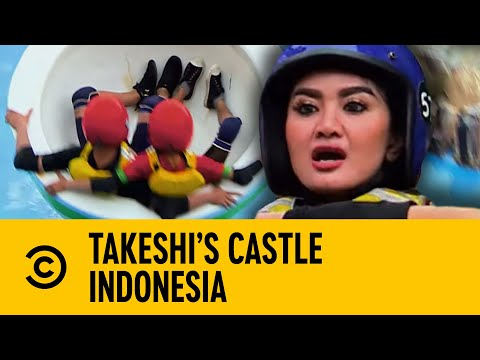 Joey Essex Cannot Believe This Rice Bowl Madness | Takeshi's Castle Indonesia