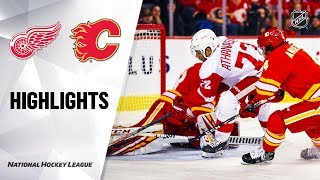 Red Wings @ Flames 10/17/19 Highlights