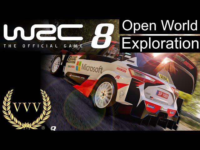 WRC 8 Open World Exploration - Stream Highlight