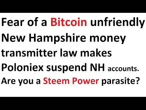 Fear of a Bitcoin unfriendly New Hampshire money transmitter law makes Poloniex suspend NH accounts