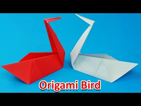 [NO GLUE Paper Crafts] How To Make A Bird Without Glue | Paper Bird Origami Flapping Bird - Easy