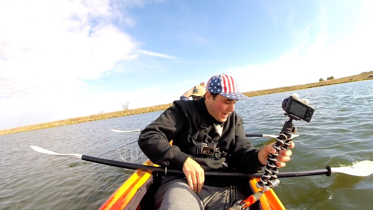 Two man kayak vs jon boat fishing challenge youtube for Two man fishing boat