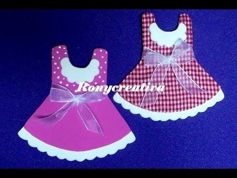 558f4e87a Cómo hacer vestidos de foamy para BABY SHOWER