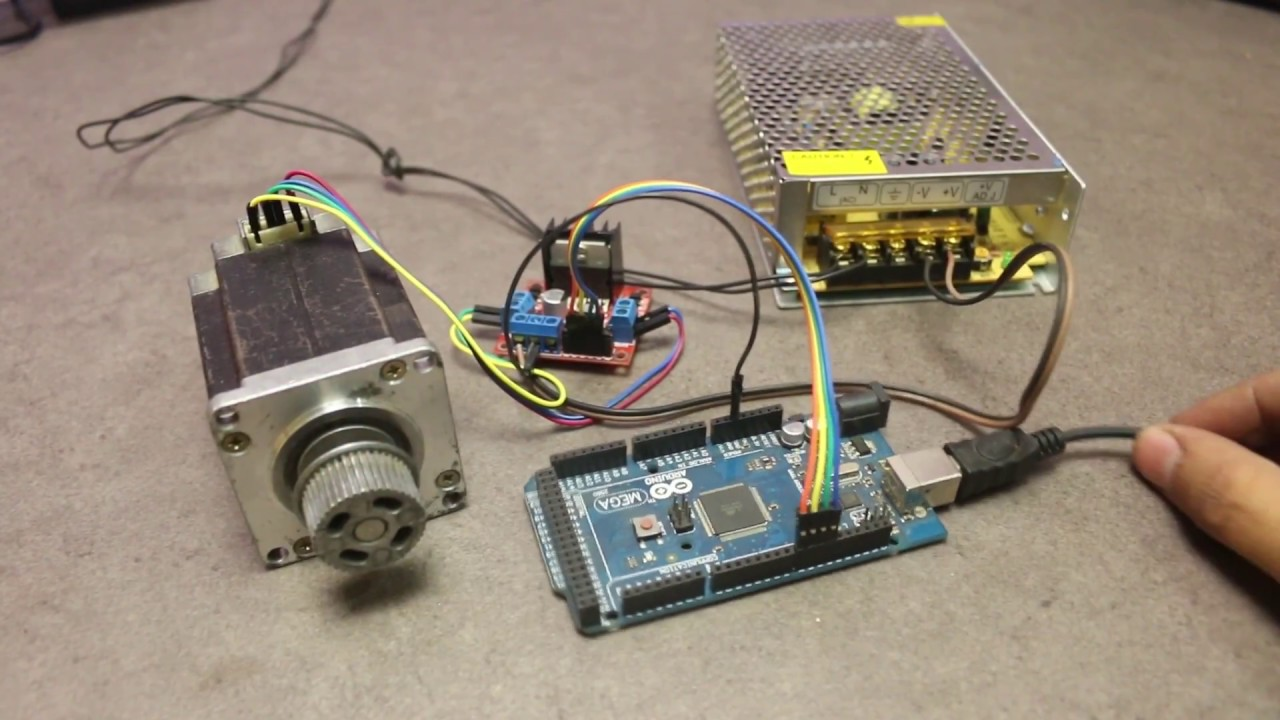 How To Run Stepper Motor With Arduino Using L298n Driver Module Youtube
