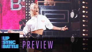 Nina Agdal Performs The Black Eyed Peas