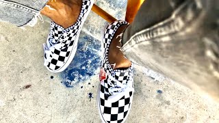 Vans authentic mix checker review — onfeet — unboxing