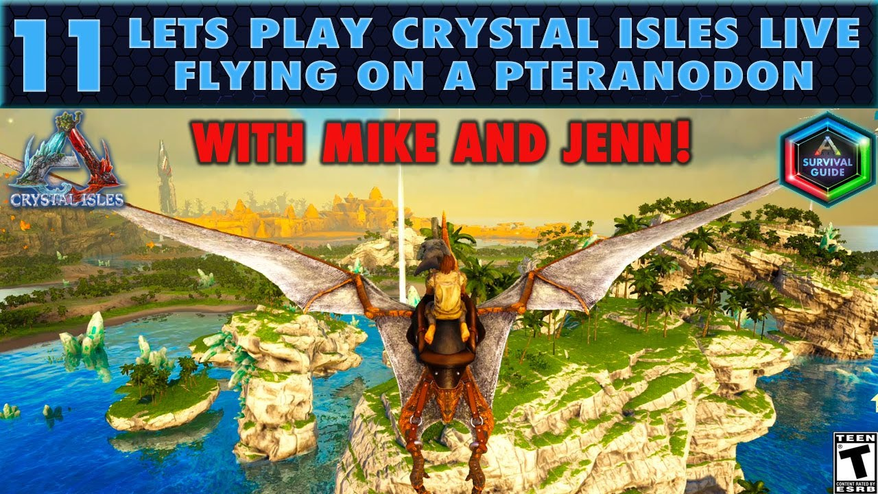 Let's Play Crystal Isles Live 11: Flying on a Pteranodon and Stealing from Beavers