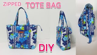 DIY Zipped tote bag/Tote bag t…