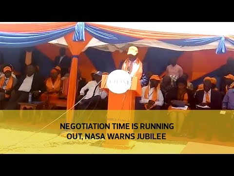 Negotiation time is running out , NASA warns Jubilee