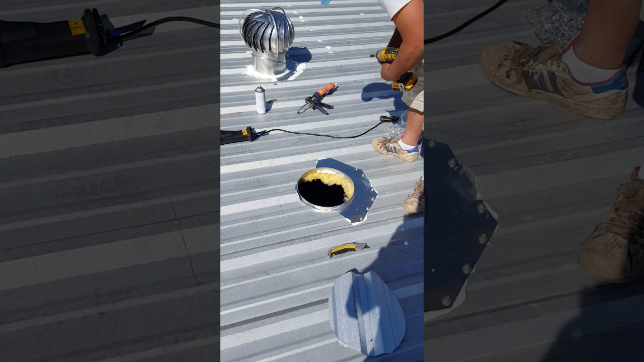 How To Install Turbine In Metal Roof Youtube