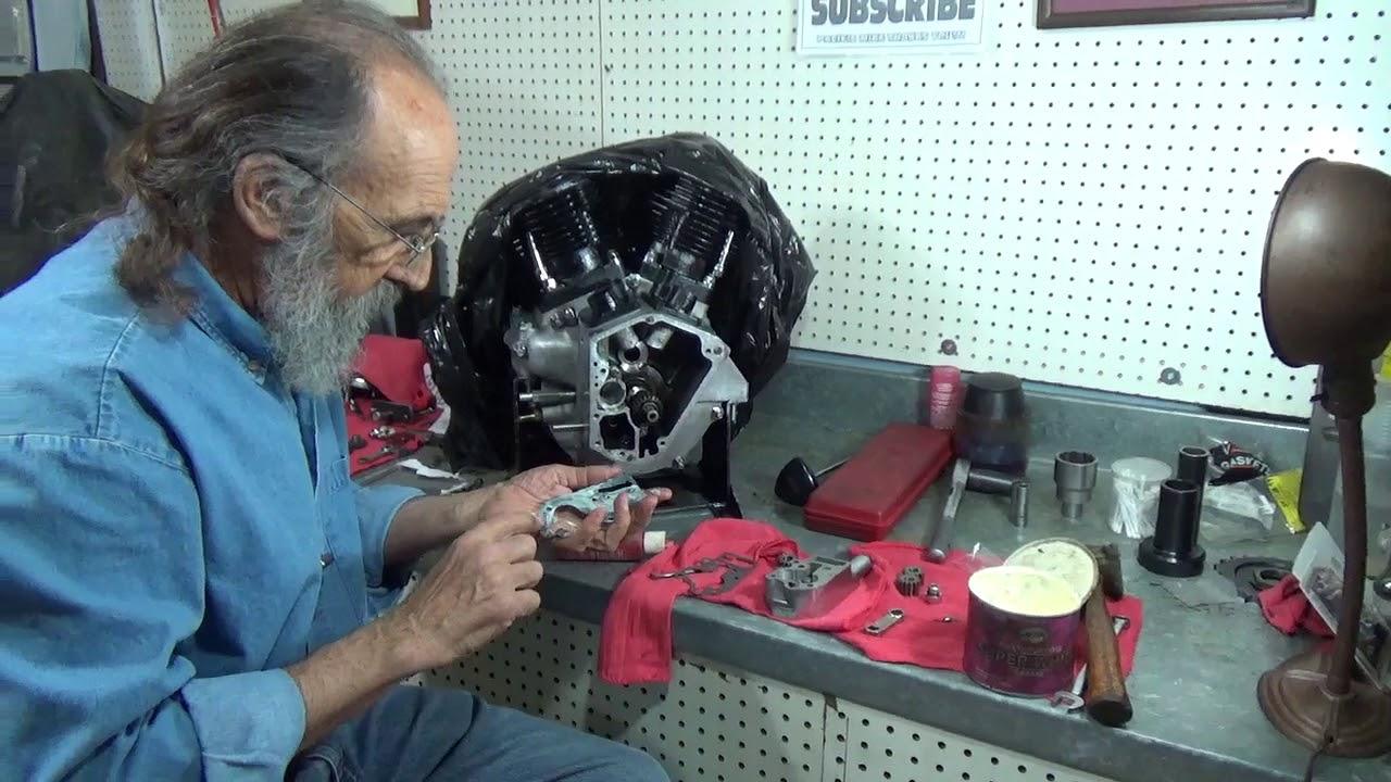 Installing Shovelhead    oil       pump     YouTube