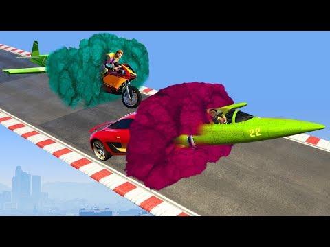 NEW PLANE CAR BIKE COMBO!? (GTA 5 DLC)