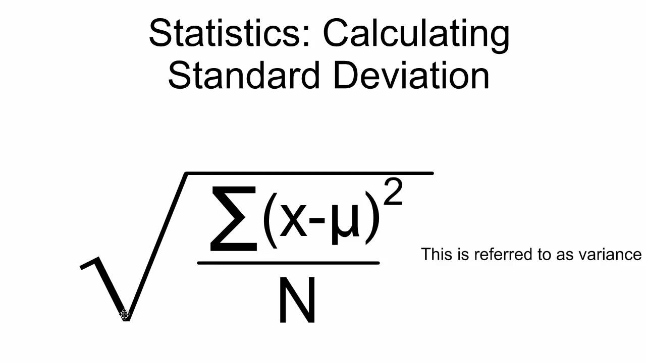 Standard Deviation Calcuation