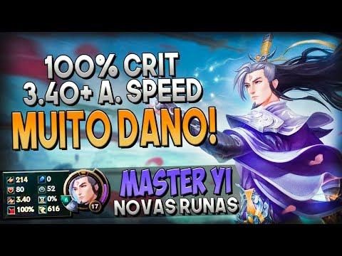 É MUITO DANO COM 100% CRÍTICO E FULL ATACK SPEED! - MASTER YI JUNGLE - Festinha Do Rodil