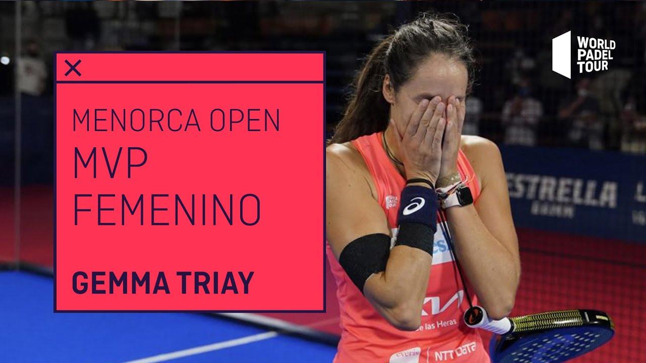 Gemma Triay, MVP Estrella Damm Menorca Open 2021   World Padel Tour
