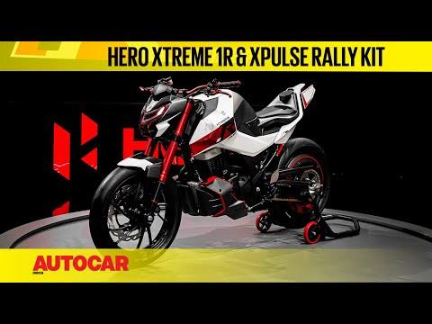 Hero Xtreme 1.R Concept & Xpulse 200 Rally Kit Walkaround & First Look   EICMA 2019   Autocar India
