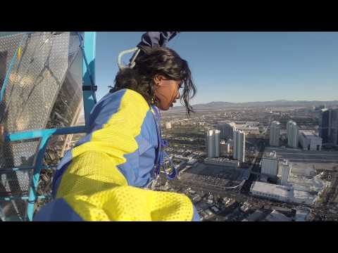 My Vegas Stratosphere Sky Jump Experience!! #Brave