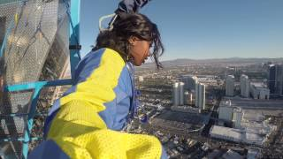 My Vegas Stratosphere Sky Jump Experience!! #Brave