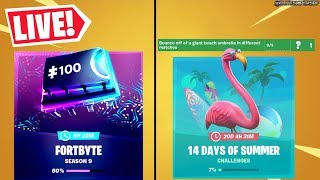 🔴 'NEW' 14 JOURS DE SUMMER DAY 8, FORTBYTE UNLOCKS (FORTNITE BATTLE ROYALE LIVE)