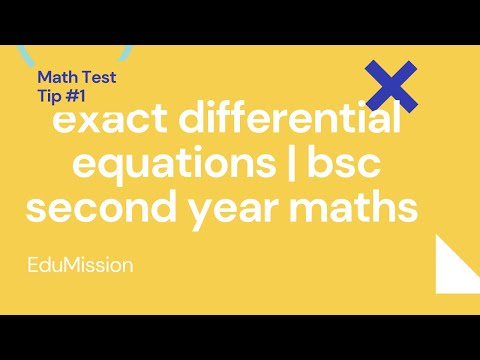 exact differential equations|bsc second year maths|first order and degree  |HINDI |HINDI