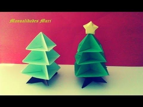 Origami papiroflexia rbol de navidad christmas tree - Arbol de navidad de origami ...