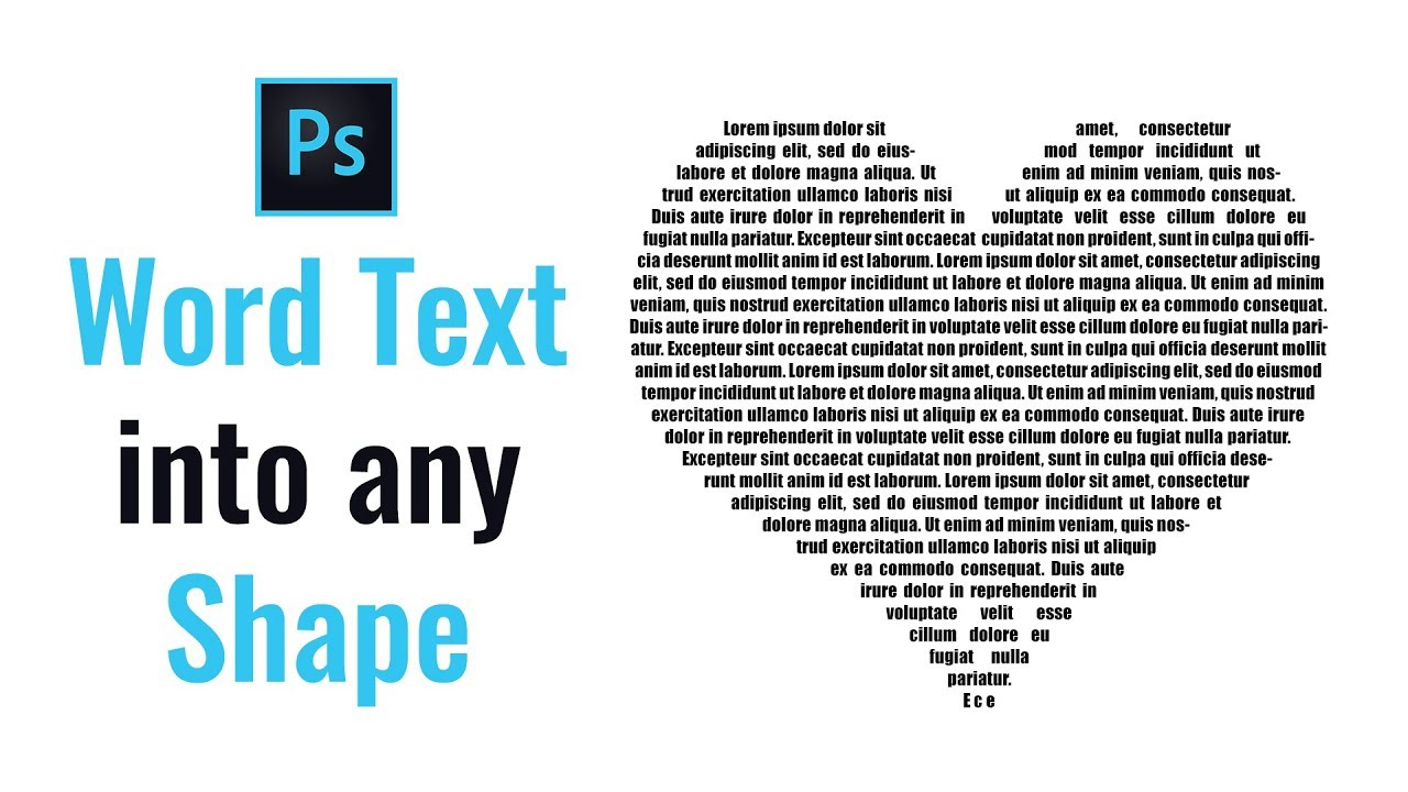 how to fill a shape with text in photoshop youtube