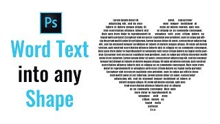 How to Fill a Shape with Text in Photoshop