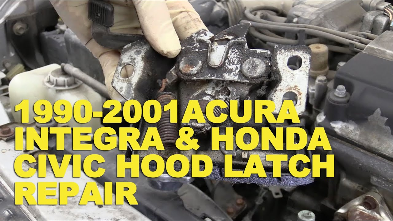 acura integra hood diagram acura free engine image for user manual1990 2001 acura integra \\u0026 honda civic hood latch repair youtube1990 2001 acura integra \\