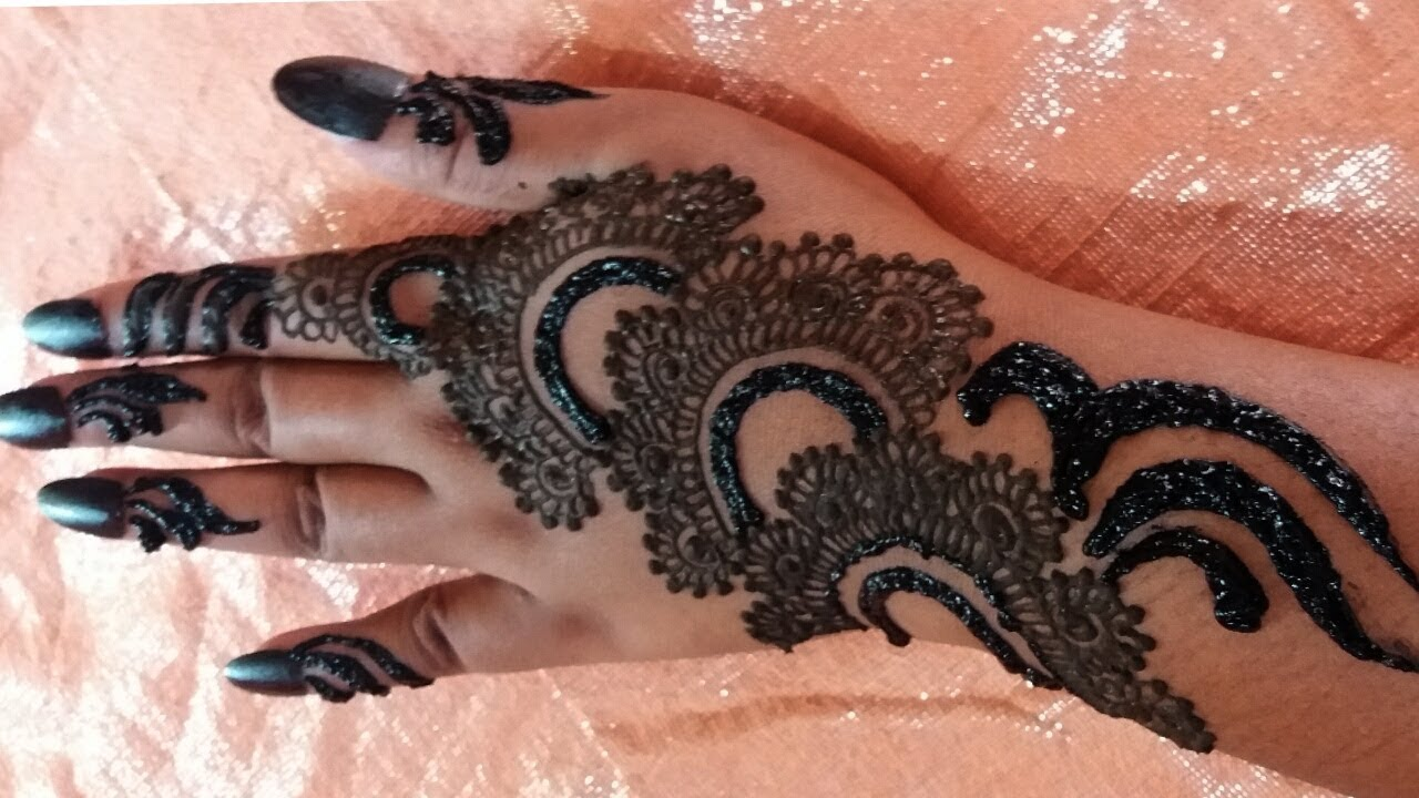 Mehndi Hand With Eye : Diwali special easy mehndi design for beginnersstep by step back