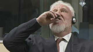 War criminal dies after drinking 'poison' in court