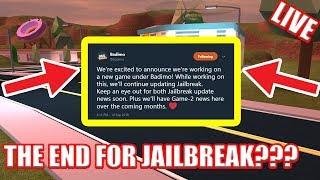 NEUE Badimo ANNOUNCEMENT! | UPDATE SOON??!! | Roblox Jailbreak Live