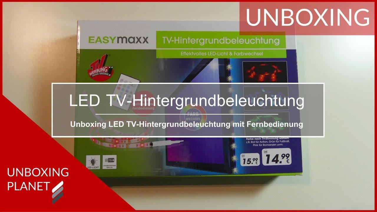 Unboxing LED TV Hintergrundbeleuchtung EasyMaxx   Unboxing Planet