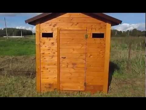 Большой туалет или маленький хозблок для дачи