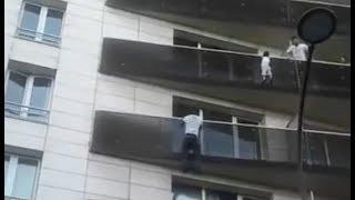 Trepó cuatro pisos en 30 segundos para salvar a un niño