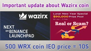 Wazirx Coin Big Update | 500 WRX = 10$ Binance IEO | SnapEX Airdrop Scam or Real?