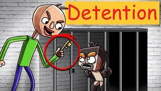 Minecraft Baldi's Basics - BALDI LOCKS US AWAY IN DETENTION PRISON!