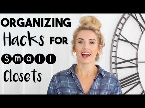 ORGANIZE: Hacks to Organize a SMALL CLOSET | Making the ...