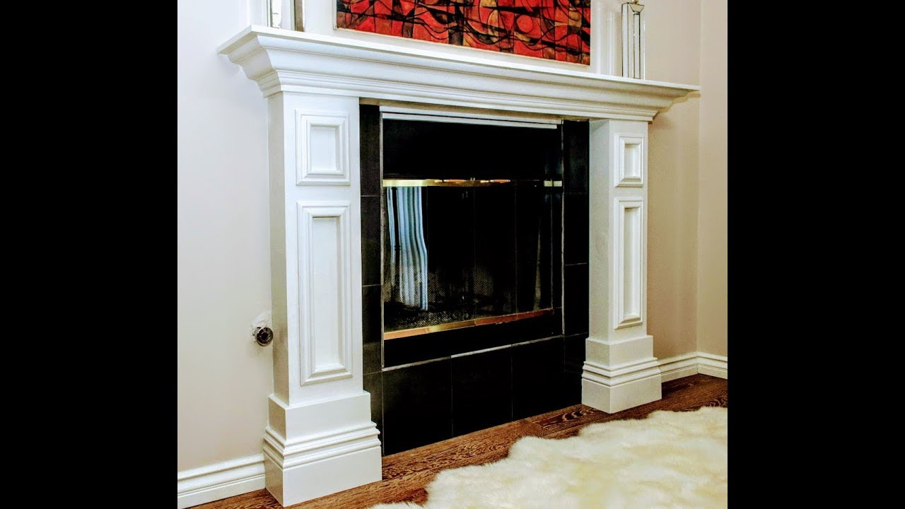 HOW TO BUILD A CUSTOM FIREPLACE MANTEL  YouTube