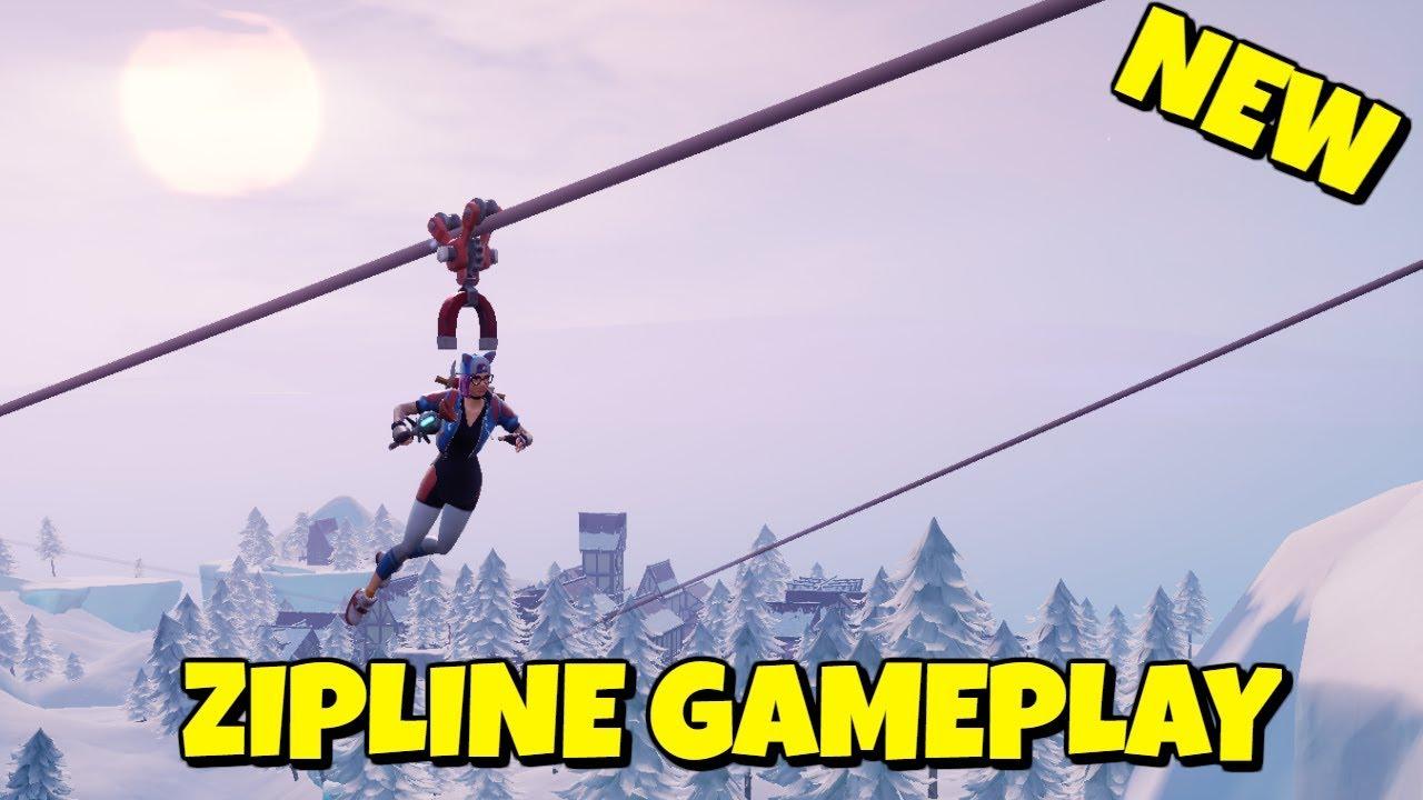 How To Zipline In Fortnite Season 7 Gameplay Youtube