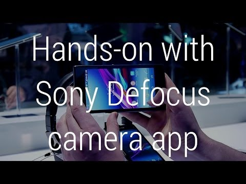 Hands-on with Sony's background defocus camera app