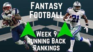 Fantasy Football - Week 9 Running Back Rankings