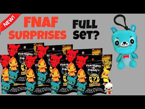 FNAF Funko Mystery Minis Plushies Surprise Bags, Hangers, Clips, Keychain, Unboxing & Toy Review