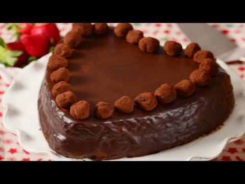 Chocolate Heart Cake Recipe Demonstration - Joyofbaking.com