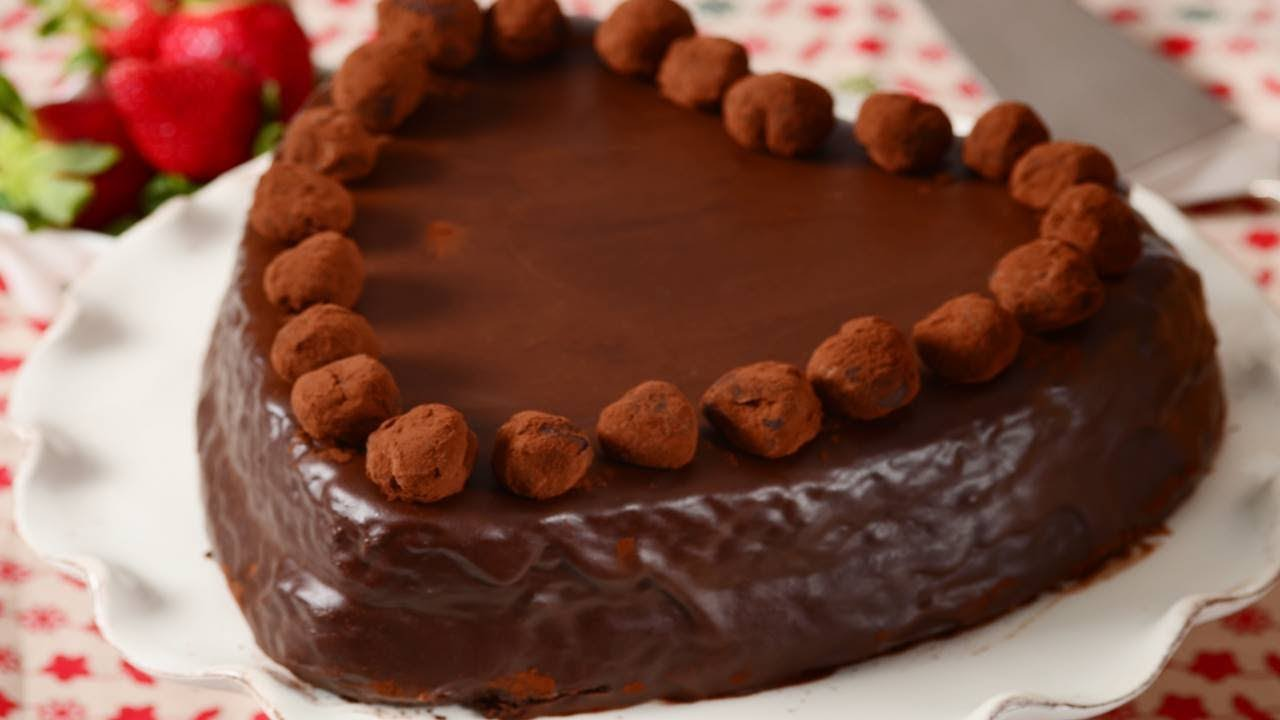 Heart Chocolate Cake Images : Chocolate Heart Cake Recipe Demonstration - Joyofbaking ...