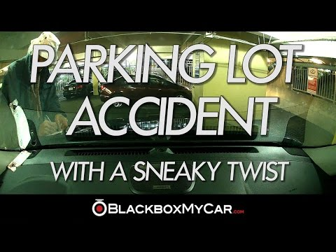 Sneaky Parking Accident Caught On Dash Cam - BlackboxMyCar