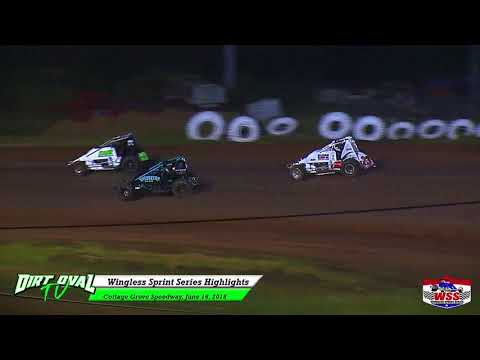 6 16 18 Cottage Grove Speedway Wingless Sprint Series Highlights