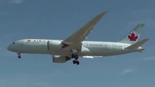 ✈ Air Canada B787-800 ✈ C-GHPQ ✈ landing Toronto Lester B. Pearson Airport