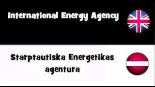 TRANSLATE IN 20 LANGUAGES = International Energy Agency