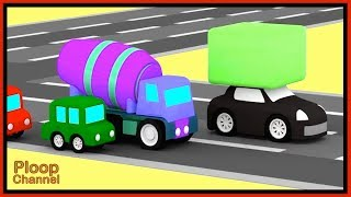 Cartoon Cars - BLACK BLOCK ROBBER! - Cartoons for Children - Children's Animation Videos for kids